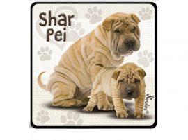 Shar Pei kutyás hűtőmágnes