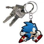 Sonic, a sündisznó gumi kulcstartó
