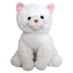 Plüss fehér cica