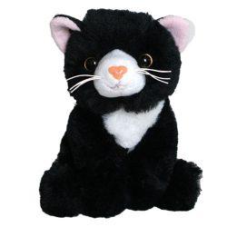 Plüss fekete cica