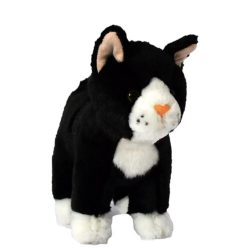 Plüss fekete színű cica