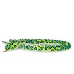 Óriás plüss zöld kígyó