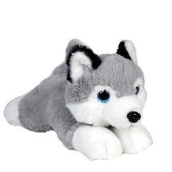 Csillogó szemű plüss Husky