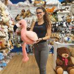 Óriás plüss flamingó