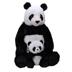 Óriás plüss panda a bébijével
