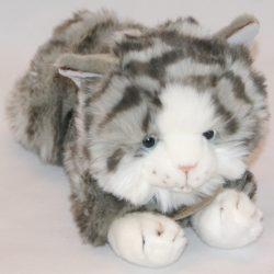Plüss szürke cica