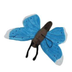 Plüss kék pillangó