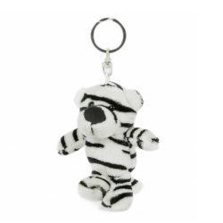 Fehér tigris plüss kulcstartó