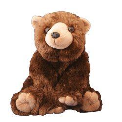 26 cm-es pihe-puha ülő plüss barna medve ingyenes szállítással