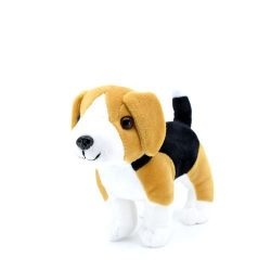 17 cm-es élethű plüss beagle kutyus