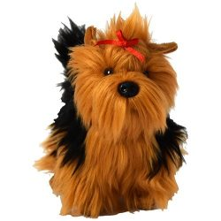 15 cm-es cuki plüss Yorkie kutya