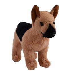 20 cm-es plüss németjuhász kutyus