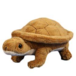 15 cm-es barna plüss teknősbéka
