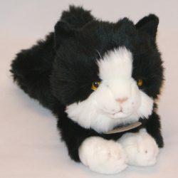 25 cm-es plüss fekete cica ingyenes szállítással