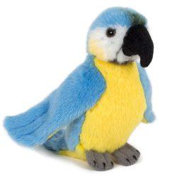13 cm-es plüss kék papagáj
