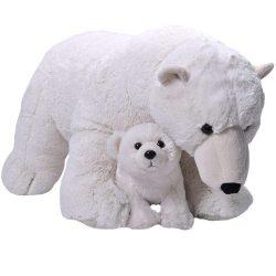 Óriás plüss jegesmedve