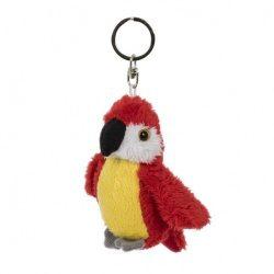 Plüss papagáj kulcstartó