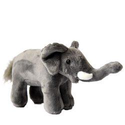 23 cm-es élethű kis elefánt plüssfigura