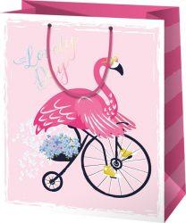 Flamingós ajándéktáska - nagy