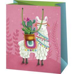 Láma kaktusszal ajándéktasak-nagy