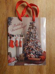 Boldog Karácsonyt! ajándéktáska - közepes