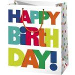 Boldog Születésnapot ajándéktáska - közepes