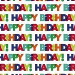 Boldog Születésnapot csomagolópapír