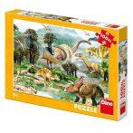 100 db-os dinoszaurusz puzzle