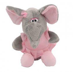 Rózsaszín plüss elefánt