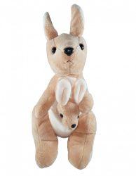 Puha plüss kenguru a kicsinyével