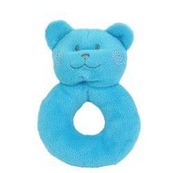 Kék színű plüss cica csörgő