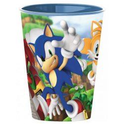 Sonic, a sündisznó műanyag pohár