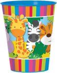 Dzsungel állatai műanyag pohár