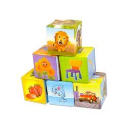 Szivacs kocka építő játék kisgyermekeknek