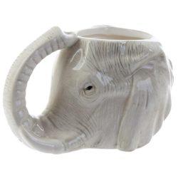 Elefánt fej alakú kerámia bögre