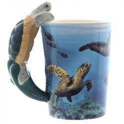 Teknősbéka kerámia bögre