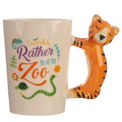 Tigris fogantyús kerámia bögre