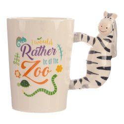 Zebra prémium kerámia bögre