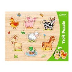 Farm állatok formabehelyező